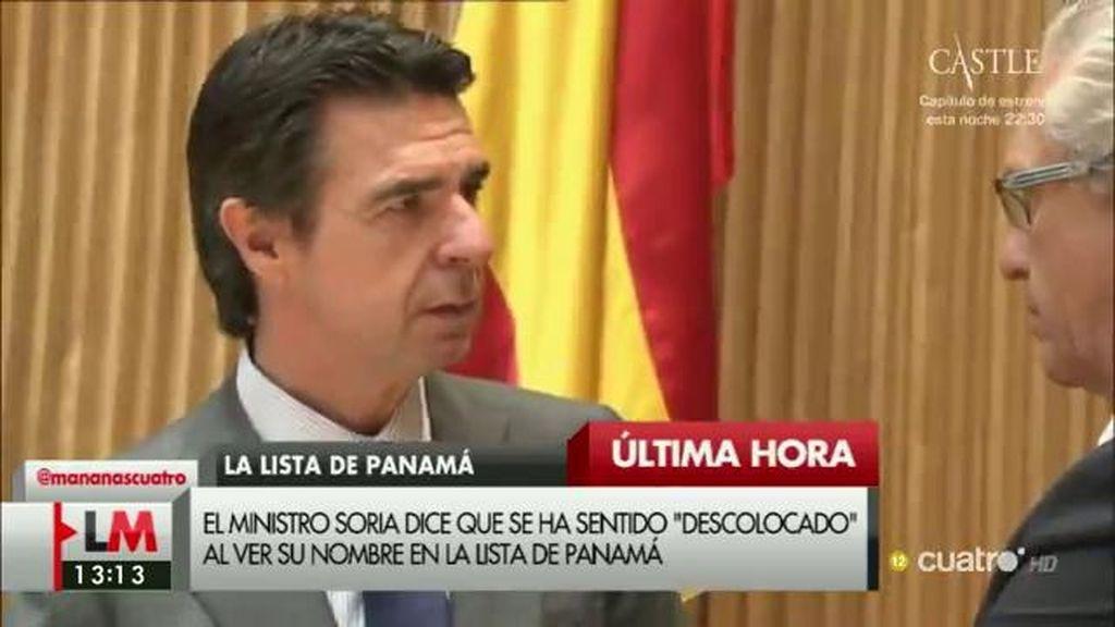 Soria desmiente la información de los 'Papeles de Panamá'