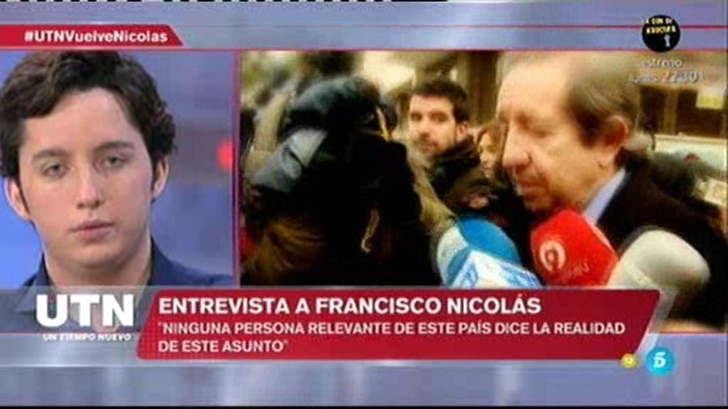 """Nicolás, sobre J. de la Rosa: """"Me contó cómo era la financiación de Convergencia"""""""