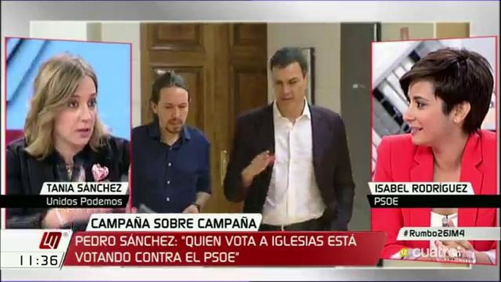 "I. Rodríguez, a T. Sánchez: ""Que a Podemos le gustan los ministerios quedó evidenciado"""