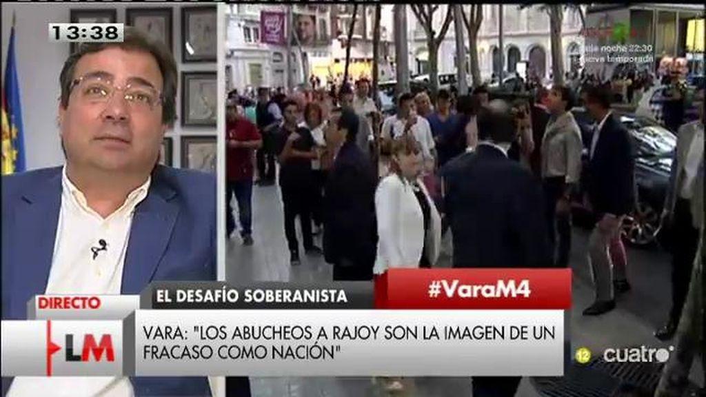 """Vara, de los abucheos a Rajoy en Cataluña: """"Es la imagen de un fracaso colectivo"""""""