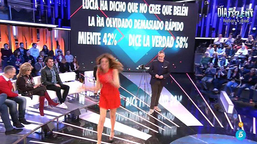 La audiencia no cree que Belén Roca se haya olvidado de Lucía