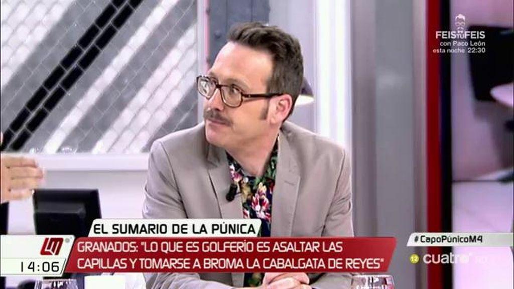 """Joaquín Reyes, de Granados: """"Me llama la atención que, estando como está, se preocupe de la cabalgata de reyes"""""""