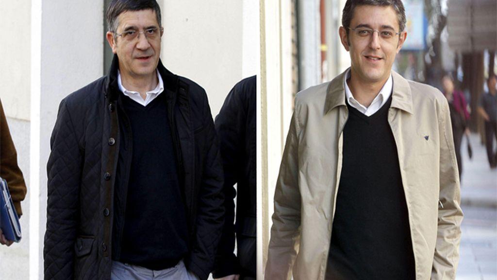 Madina y López a su llegada a la  Ejecutiva Federal del PSOE