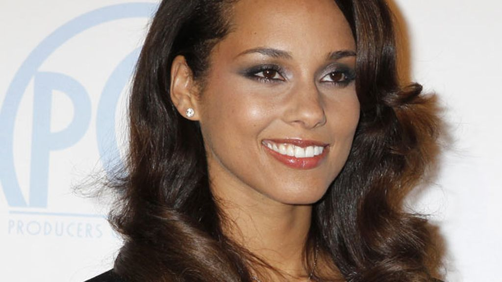 Alicia Keys en la entrega de premios de la Asociación de Productores en Beverly Hills