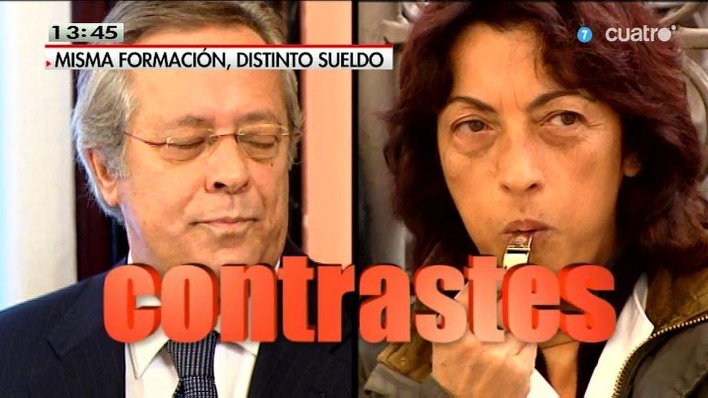 Las dos caras de España: un alto cargo y una trabajadora a la que no le pagan
