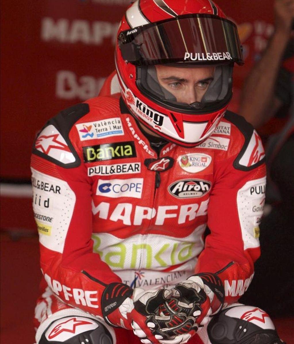 El piloto español de MotoGP, Héctor Barberá. EFE/Archivo