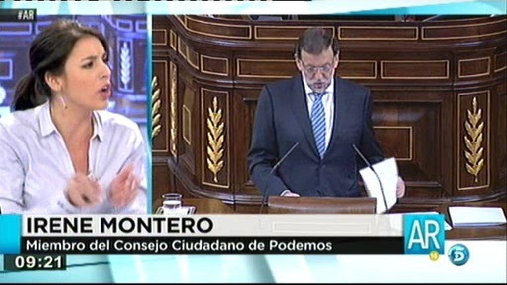 """I. Montero: """"El autoaplauso de la casta es una falta de respeto a la ciudadanía"""""""