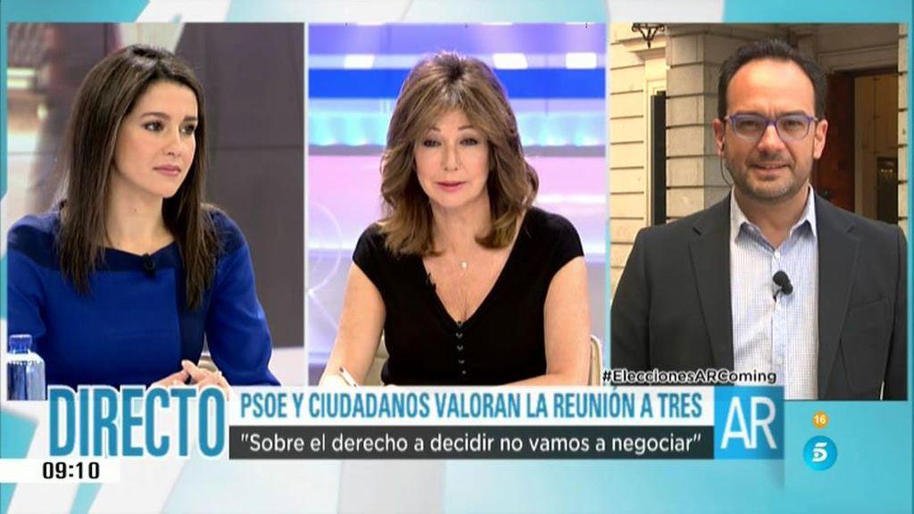 """Arrimadas: """"Doménech sigue pidiendo el referéndum de autoderminación"""""""