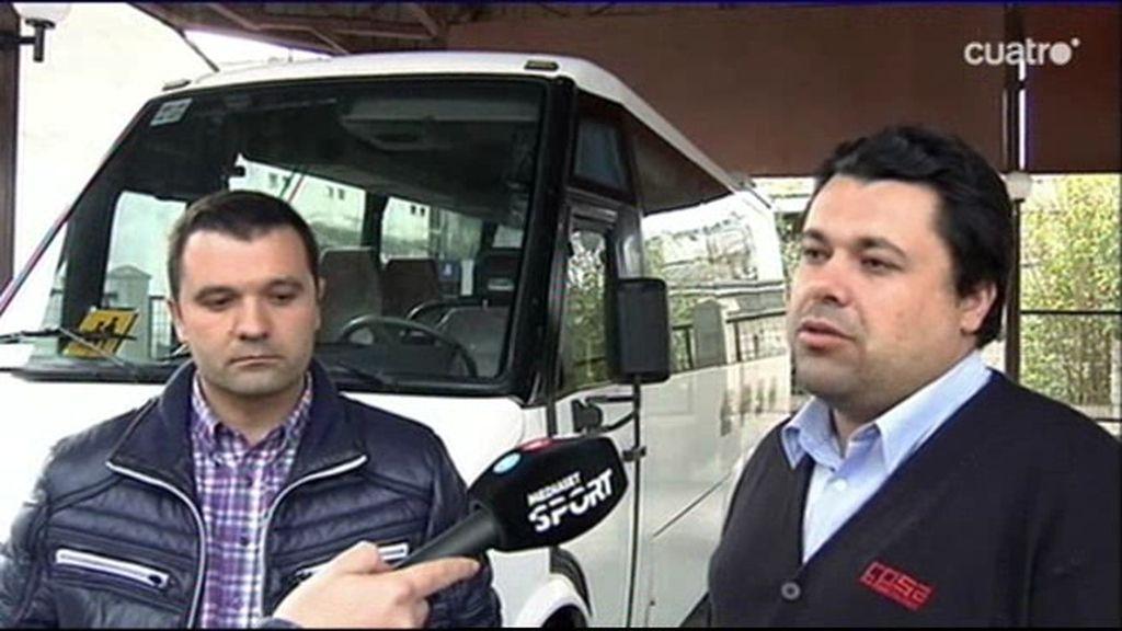 """Los conductores de Riazor Blues: """"El viaje a Madrid fue tranquilo. No tuvimos problemas"""""""