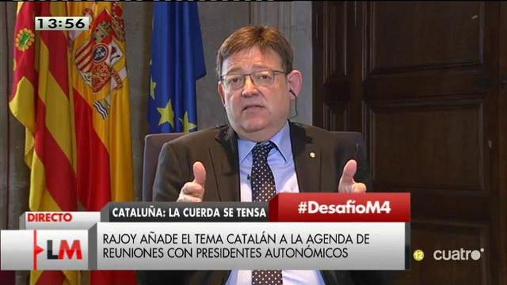 """Ximo Puig: """"Fui a hablar con Rajoy de mi libro y mi libro es el problema valenciano"""""""