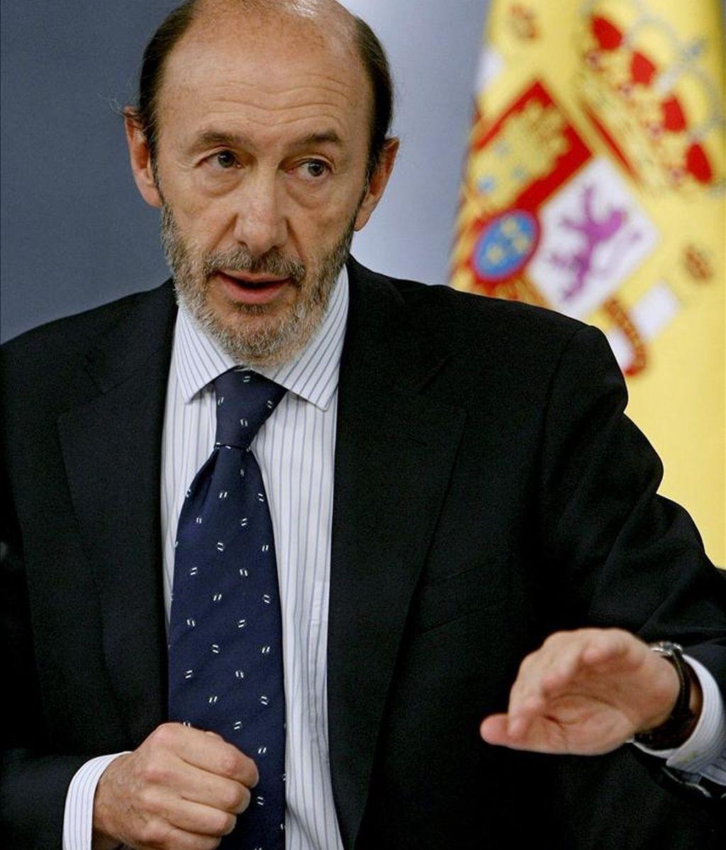 El vicepresidente primero del Gobierno, Alfredo Pérez Rubalcaba. EFE/Archivo