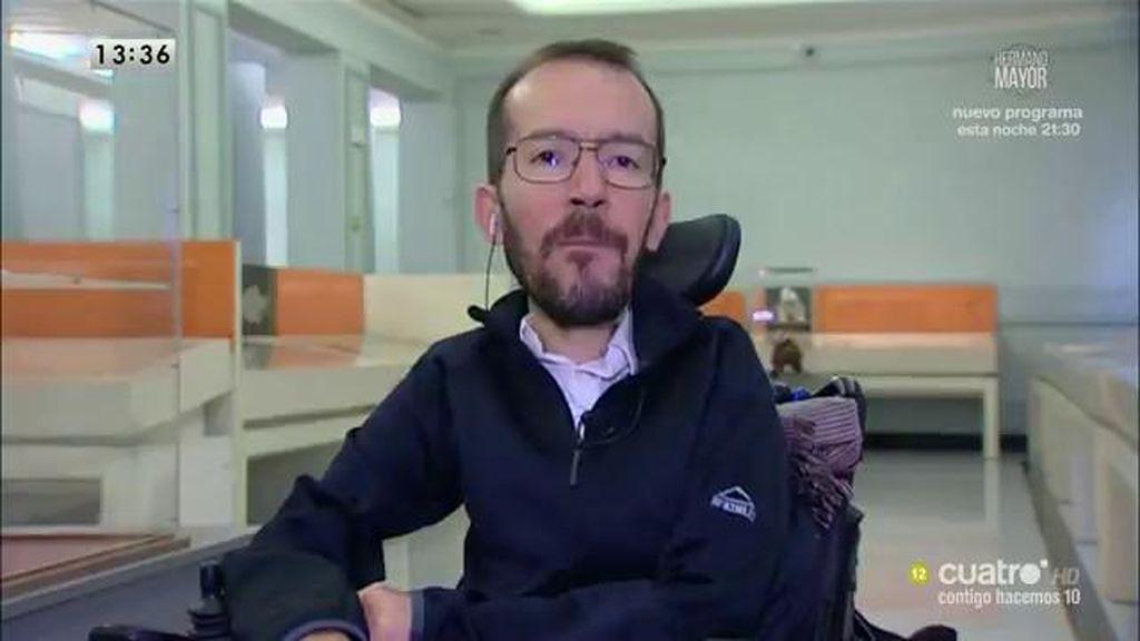 La entrevista a Pablo Echenique, a la carta