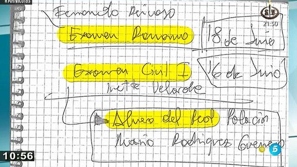 Nombres, cifras desordenadas, firmas: el contenido de las agendas de F. Nicolás