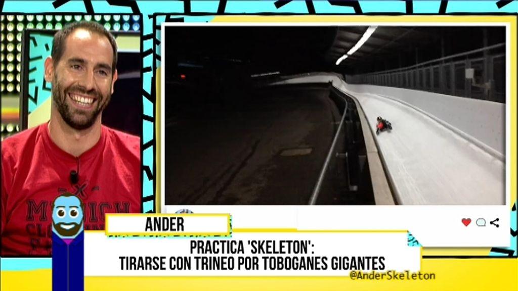 Ander estaba pasando una mala época y decidió refugiarse en el 'skeleton'