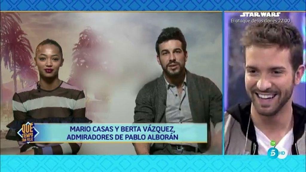 Pablo Alboran Recibe Un Saludo Especial De Mario Casas Berta
