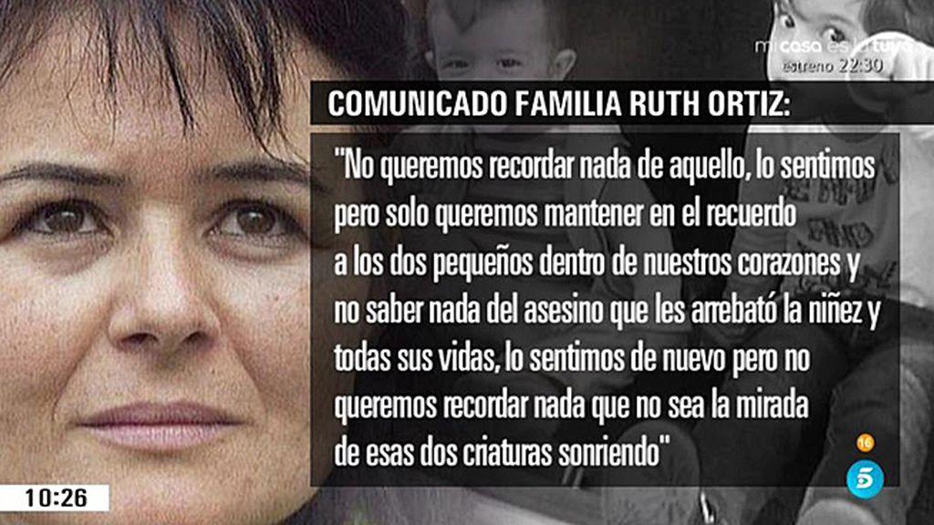 La familia materna de Ruth y José no quiere saber nada del asesino de los niños