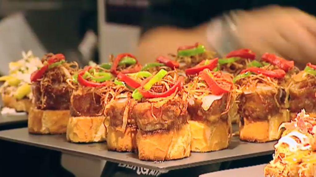 La receta de Casa Bergara: Hamburguesa de tomate raf con bacalao macerado