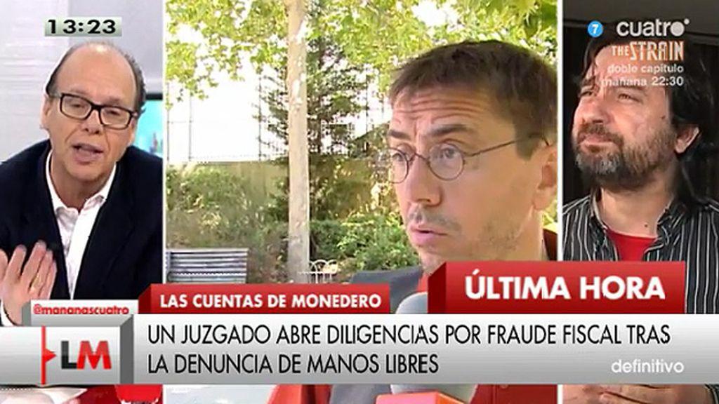 """Rafa Mayoral, sobre la denuncia a Monedero: """"Parece bastante descabellado y lleno de intencionalidad política"""""""