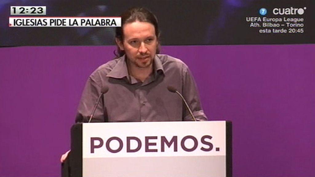 """Pablo Iglesias: """"Donde quiera y cuando quiera, señor Rajoy"""""""