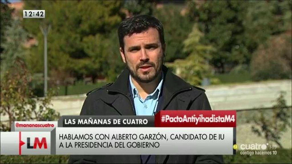 """A. Garzón: """"Este es un pacto precocinado entre PP y PSOE que sólo sirve para justificar decisiones que ya han sido tomadas"""""""
