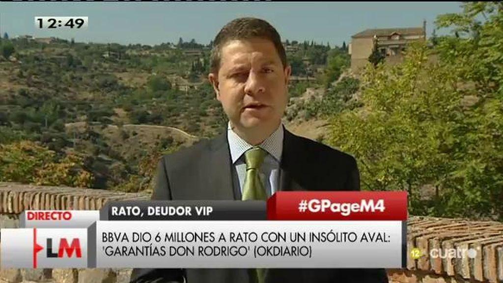 """García - Page, de Rato: """"Lo que se haya llevado desde el punto de vista personal lo ha sido en tanto que cargo público"""""""