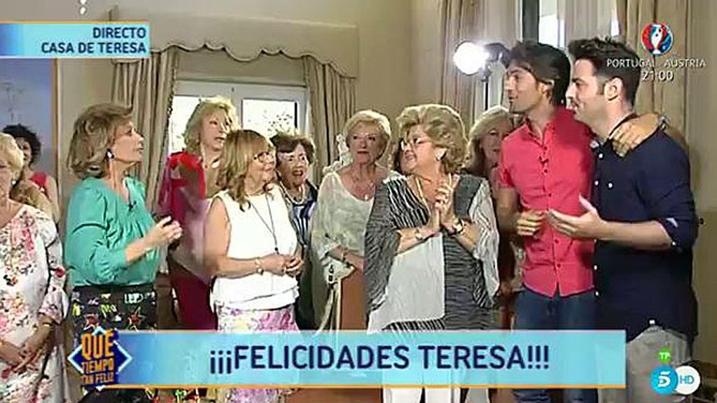"""María Teresa, de Los Supersingles: """"Ellos son el alma de '¡Qué tiempo tan feliz!'"""