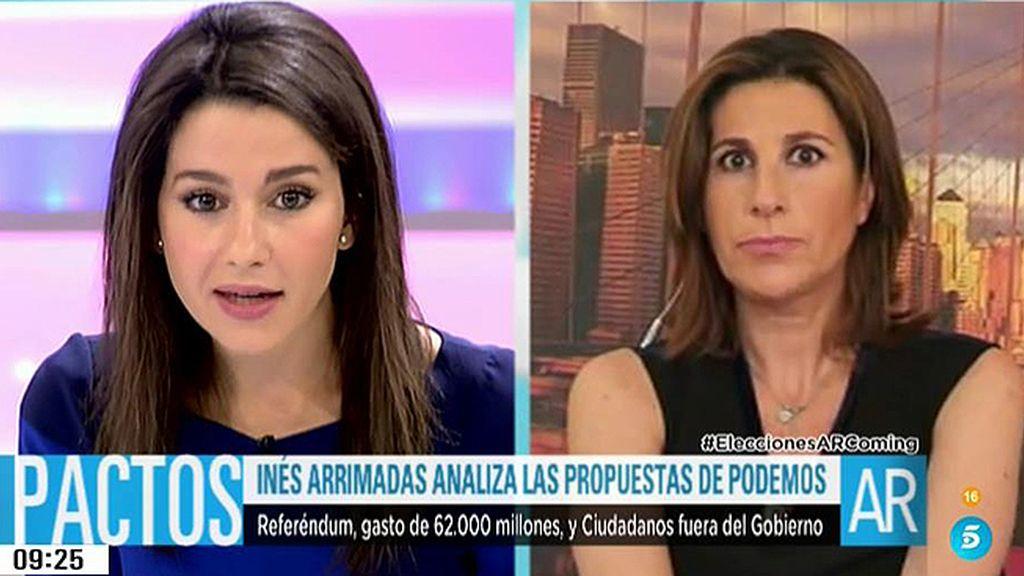 """Arrimadas: """"La mayoría de los votantes del PP está de acuerdo con el pacto PSOE - C's"""""""