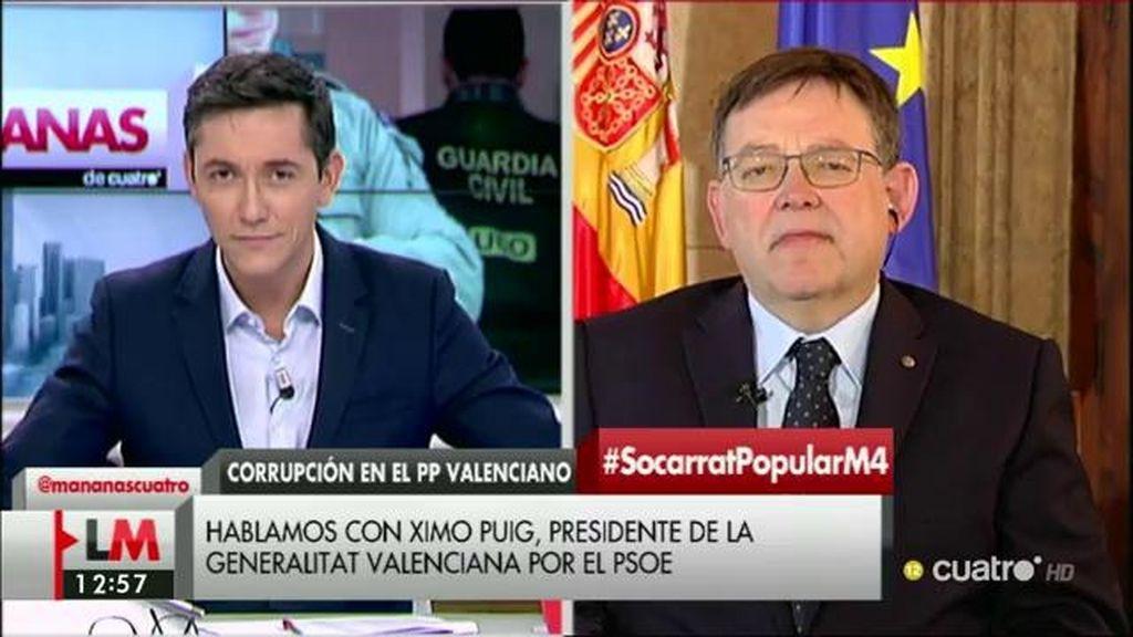 """Ximo Puig, tras la 'Operación Taula': """"En el PP sabían este caso antes que nadie y no hicieron nada"""""""