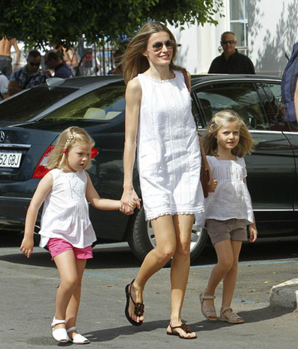 La Princesa Letizia, a juego con sus hijas