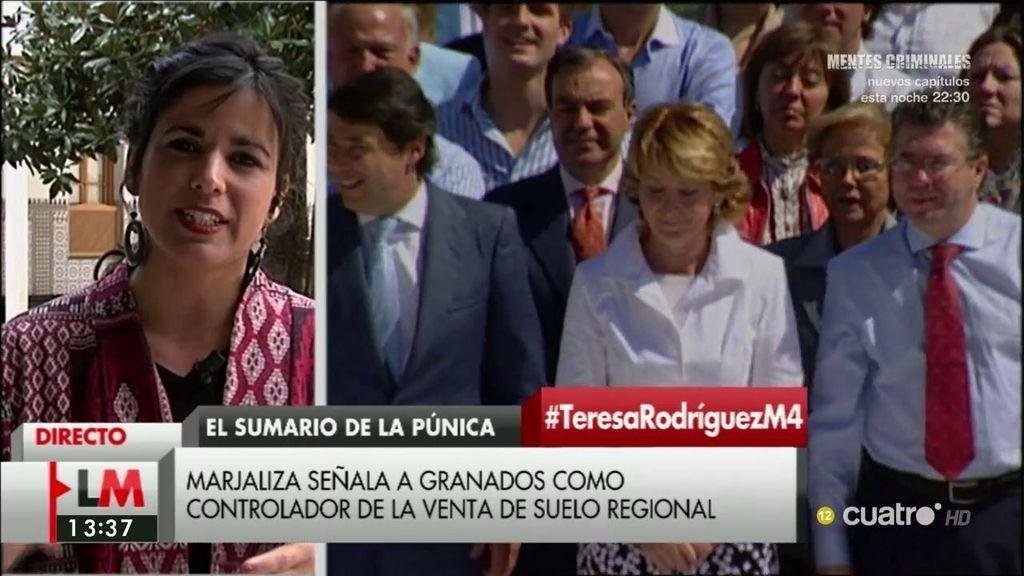 """Teresa Rodríguez, de la Púnica: """"Lamentablemente, casi ni sorprende"""""""