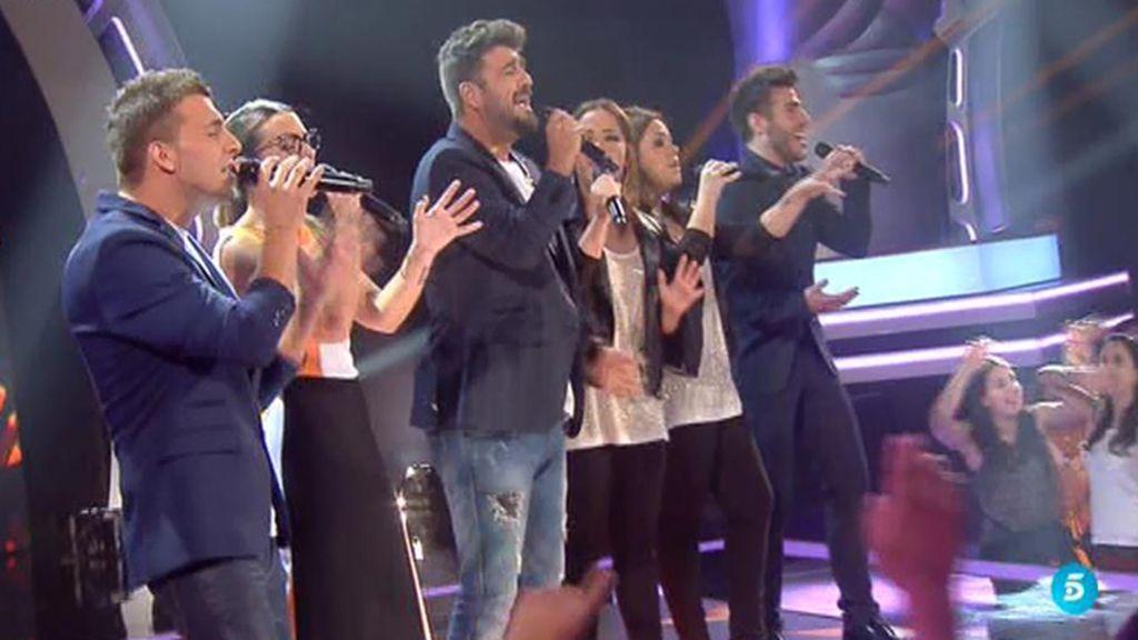 El equipo Orozco canta 'Pedacitos de ti'