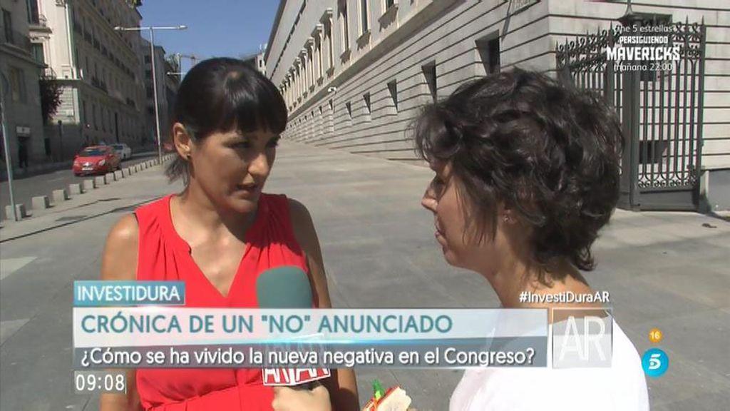 """María González: """"Rajoy tiene que esforzarse más, y no precisamente con nosotros"""""""