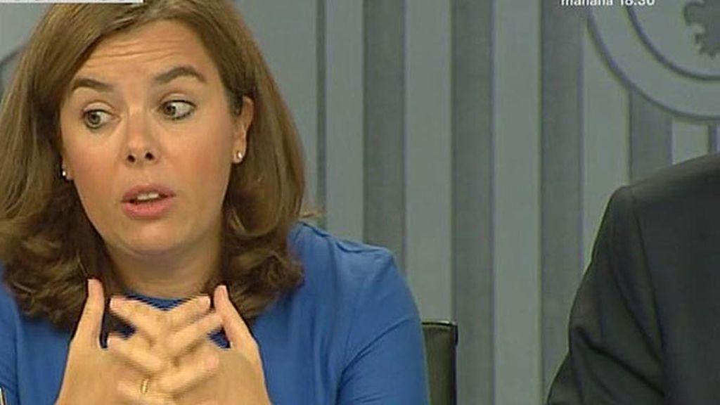 """Soraya S. de Santamaría: """"Las personas que salen de Siria huyen del terrorismo"""""""