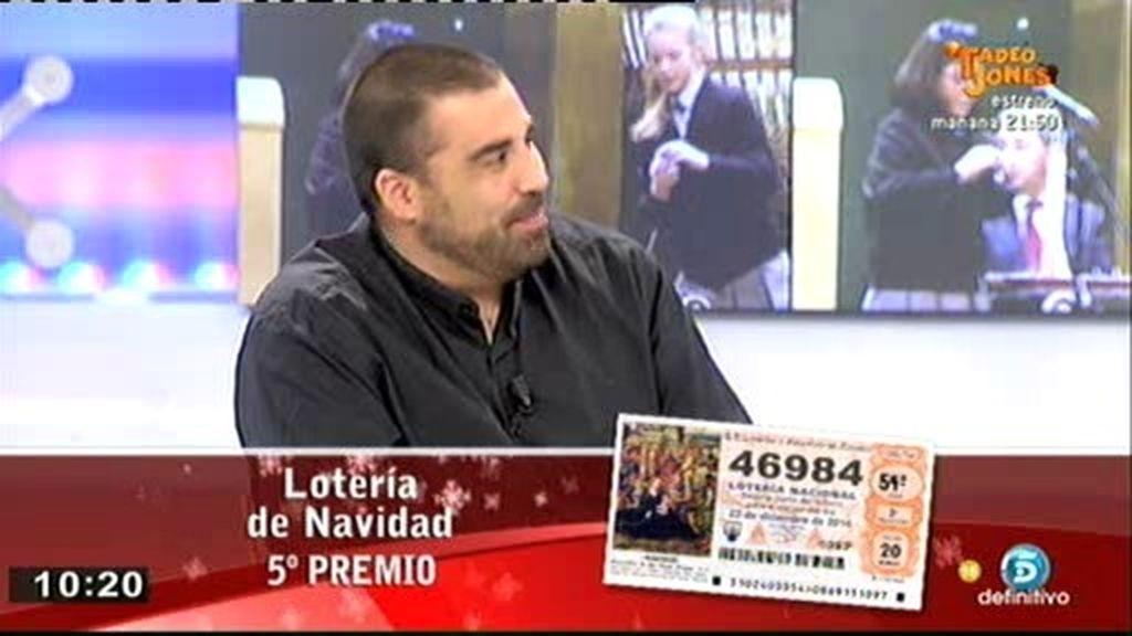 ¡A Daniel Montero le ha tocado un 5º premio de la Lotería de Navidad!