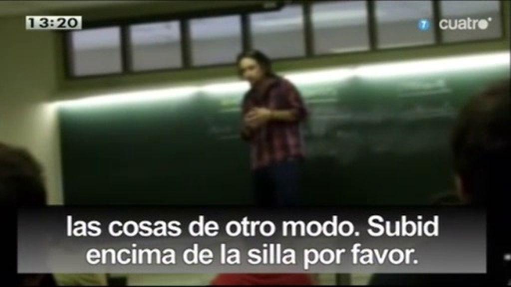 Pablo Iglesias, rebelión en las aulas