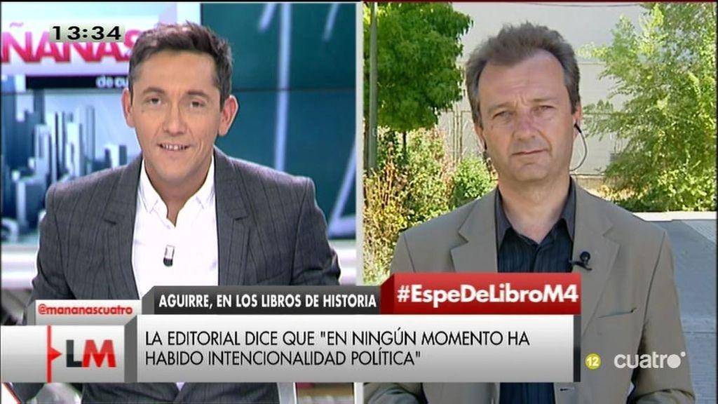 """La Asociación de Padres: """"Los libros dicen que Aguirre trajo la modernidad a Madrid"""""""