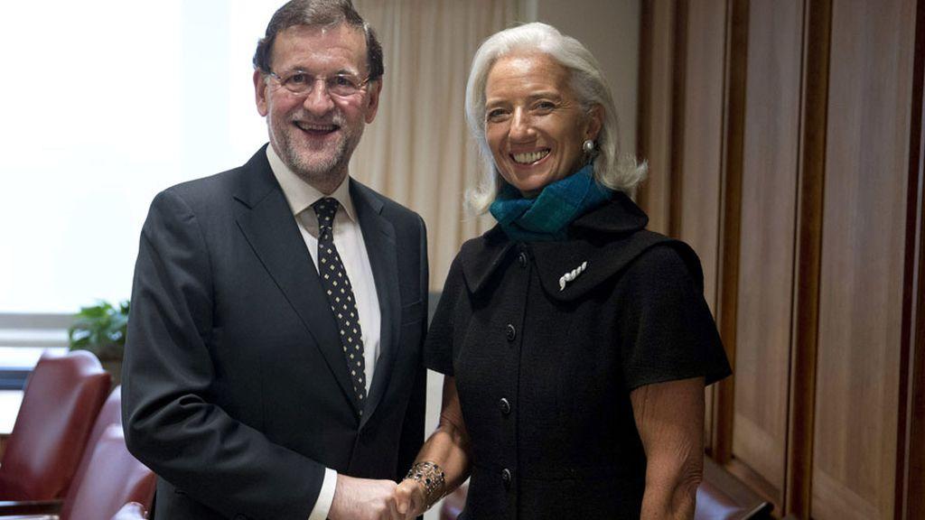 """Lagarde felicita a Rajoy por los resultados de sus reformas que """"ya se ven"""""""