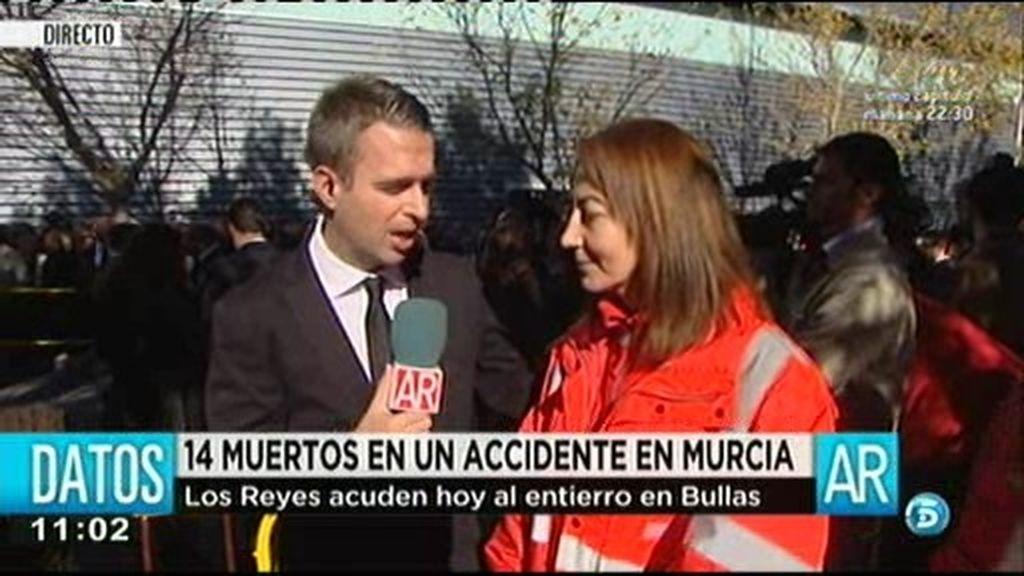 """Mª José Vera, directora autonómica de Cruz Roja: """"La evacuación fue muy rápida"""""""