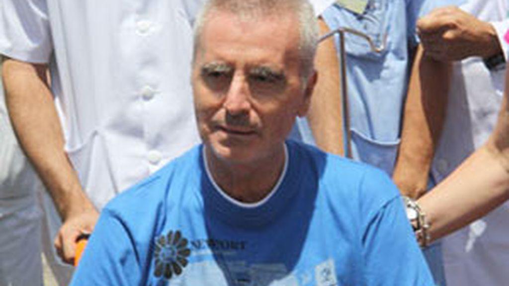 Ortega Cano, a su salida del hospital. Foto. EFE / Archivo