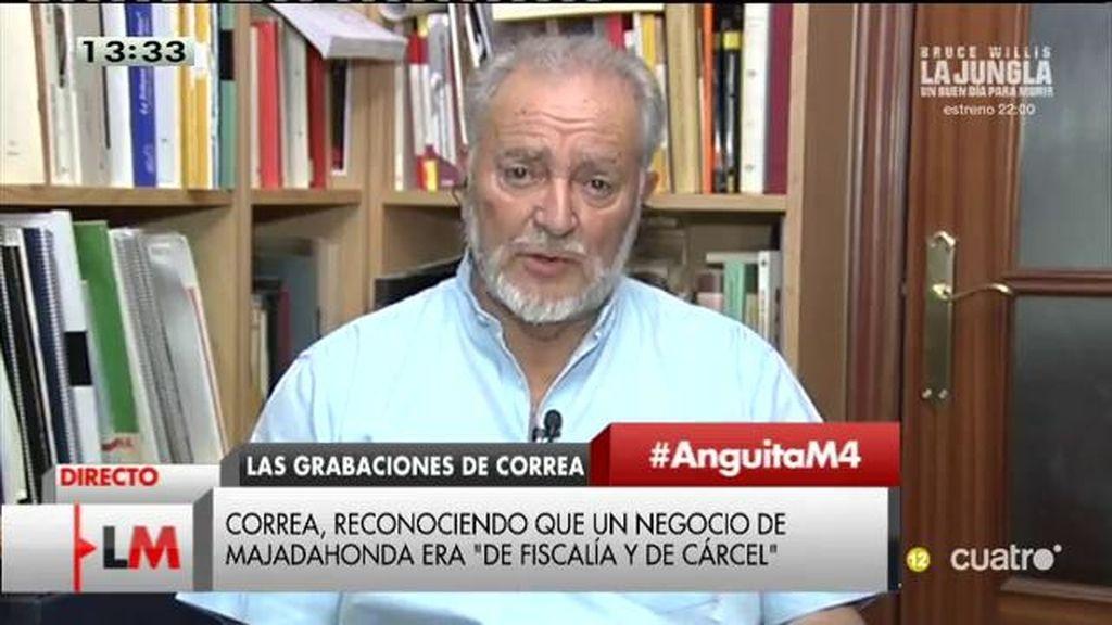 """Julio Anguita: """"Estos ladrones ya eran ladrones cuando llegaron a los cargos"""""""