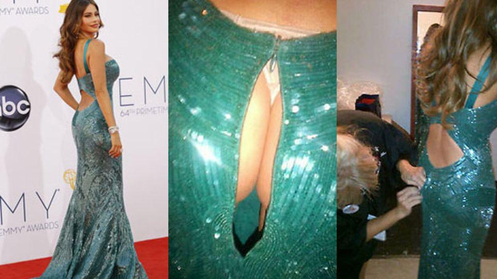 El vestido de Sofía Vergara le juega una mala pasada durante los premios Grammy
