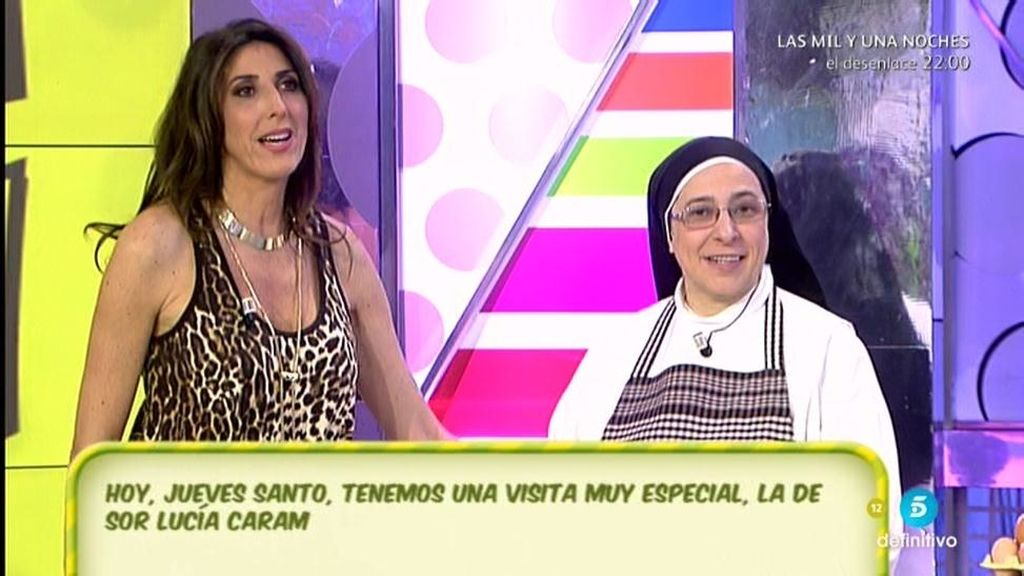 Sor Lucía Caram viene a 'Sálvame' para cocinarnos sus riquísimas torrijas