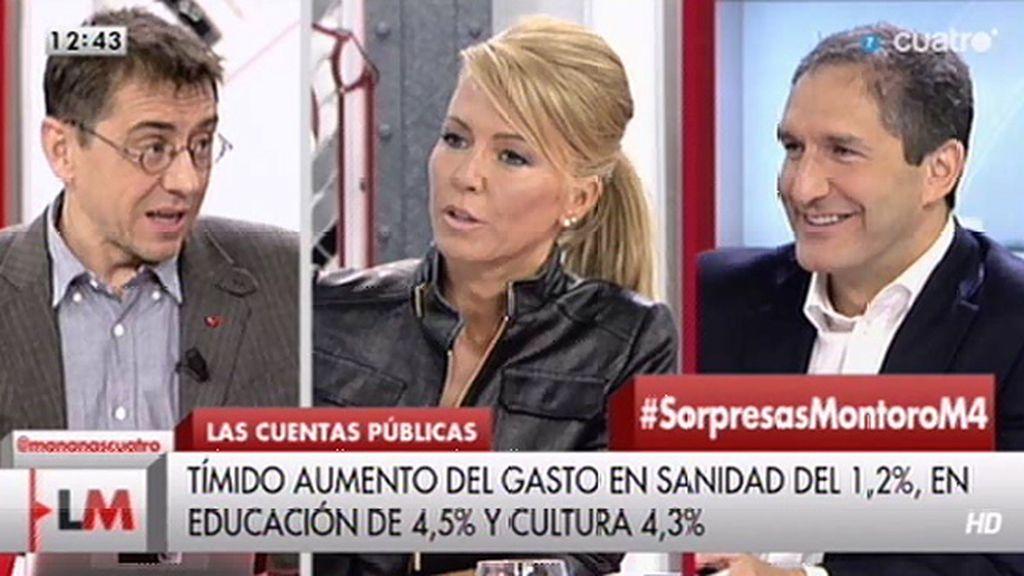 """Cepeda: """"Me encanta, Montse Suárez hace de líder de Podemos"""""""