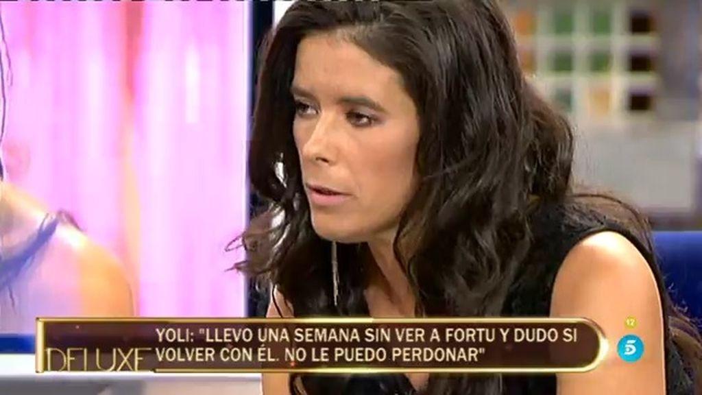 """Yoli, expareja de Fortu: """"Acudo al programa porque hay una necesidad económica"""""""