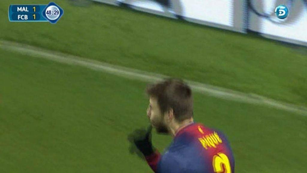 El primer gol de 'papá Piqué'