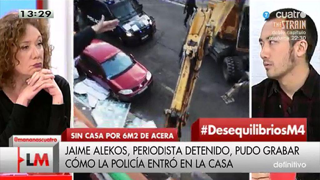 J. Alekos, periodista, nos cuenta cómo fue el desalojo en Madrid antes de su detención