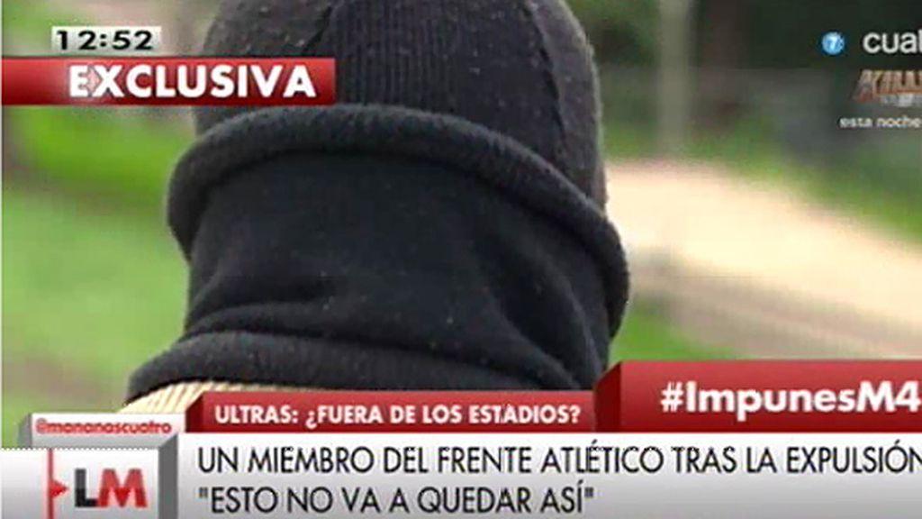 """Un ultra del 'Frente Atlético: """"Pueden conseguir que no montemos tifos, lo que no van a conseguir es que dejemos de entrar"""""""