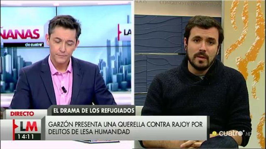 """A. Garzón: """"No nos gusta tener que presentar una querella al presidente del Gobierno pero lo que estamos viendo es un drama"""""""