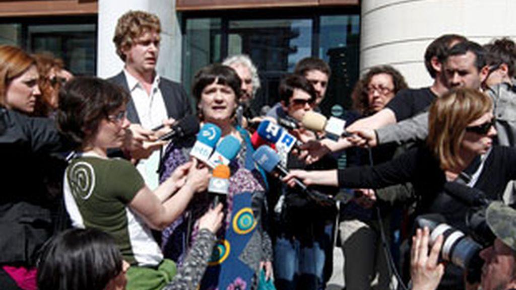 Integrados de Bildu a la salida del acto celebrado el sábado en el Palacio Kursaal de San Sebastián. FOTO: EFE/Archivo