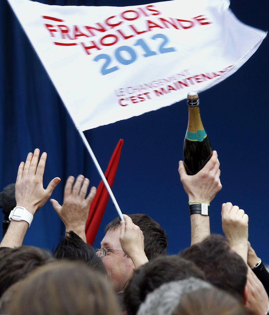 Celebracion de los Socialistas en Francia